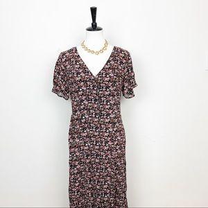 Abound Floral Button Down Maxi Dress Sz L